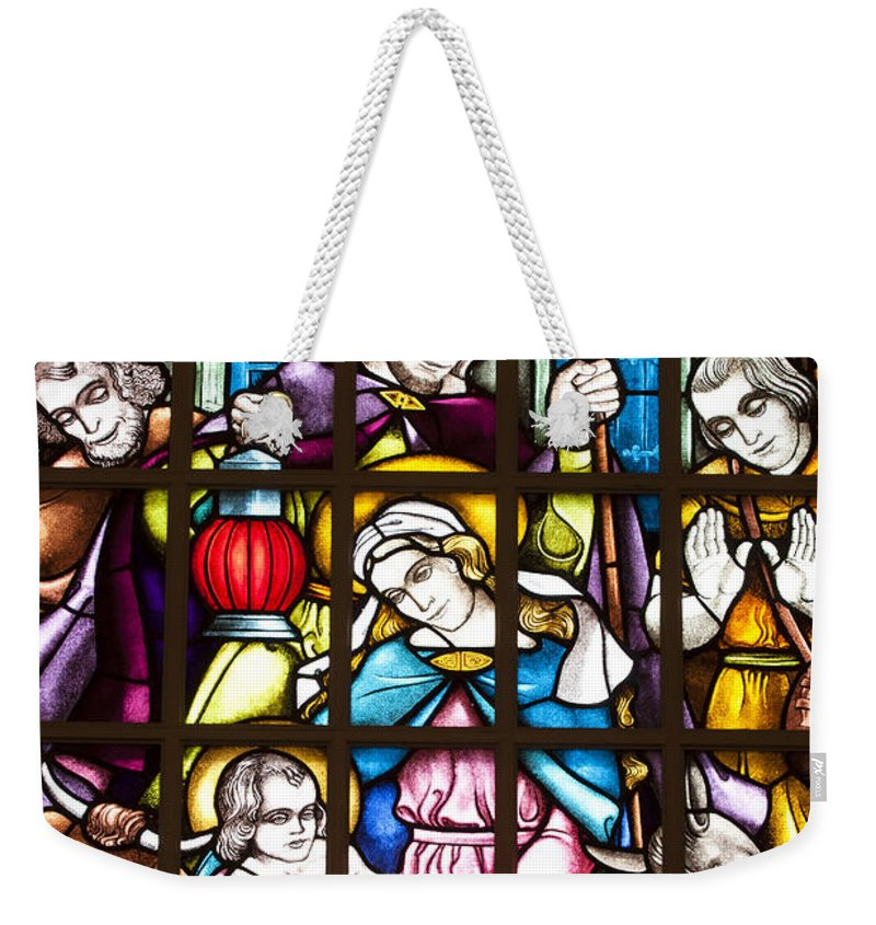 Christmas Weekender Tote Bag featuring the photograph Christmas Window by Patty Colabuono