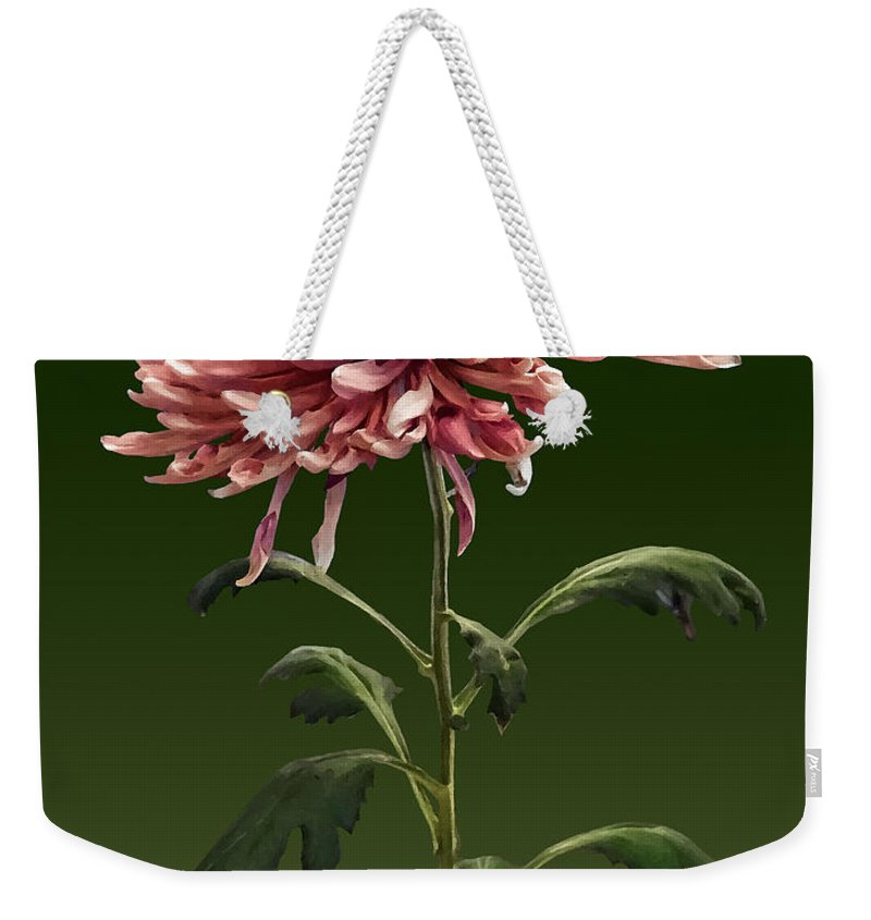Chrysanthemum Weekender Tote Bag featuring the photograph Chrysanthemum Shelbers by Susan Savad