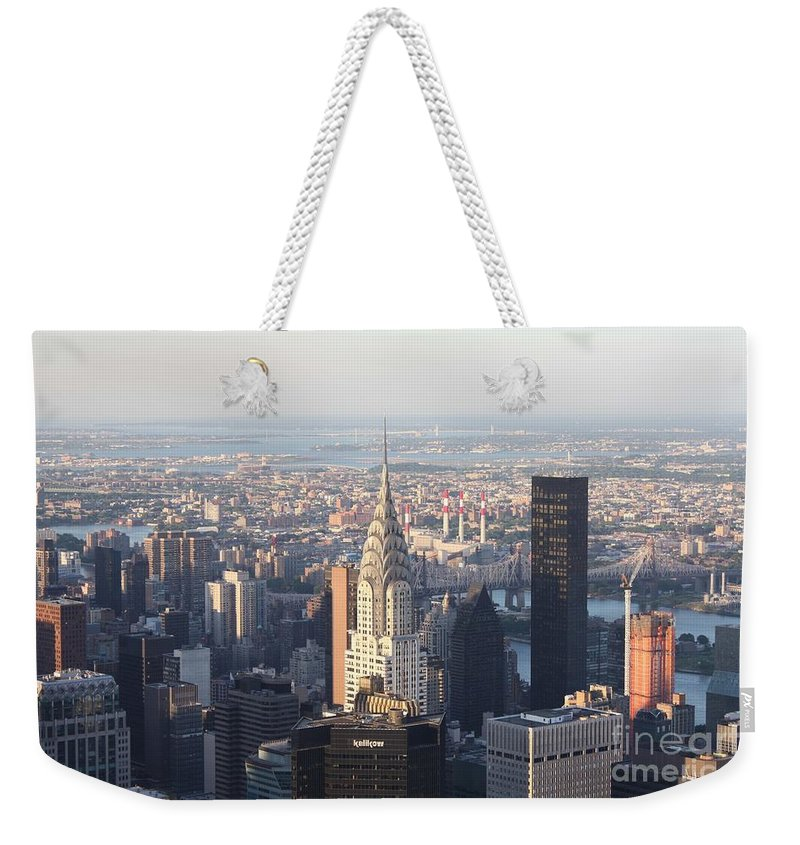 Chrysler Building From The Empire State Building Weekender Tote Bag featuring the photograph Chrysler Building From The Empire State Building by John Telfer