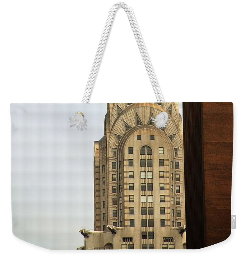 Buildings Weekender Tote Bag featuring the photograph Chrysler Building by John Schneider