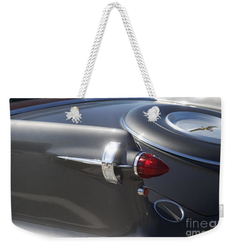 Chrysler Imperial Taillight Weekender Tote Bag featuring the photograph Chrysler Imperial Taillight by Christiane Schulze Art And Photography