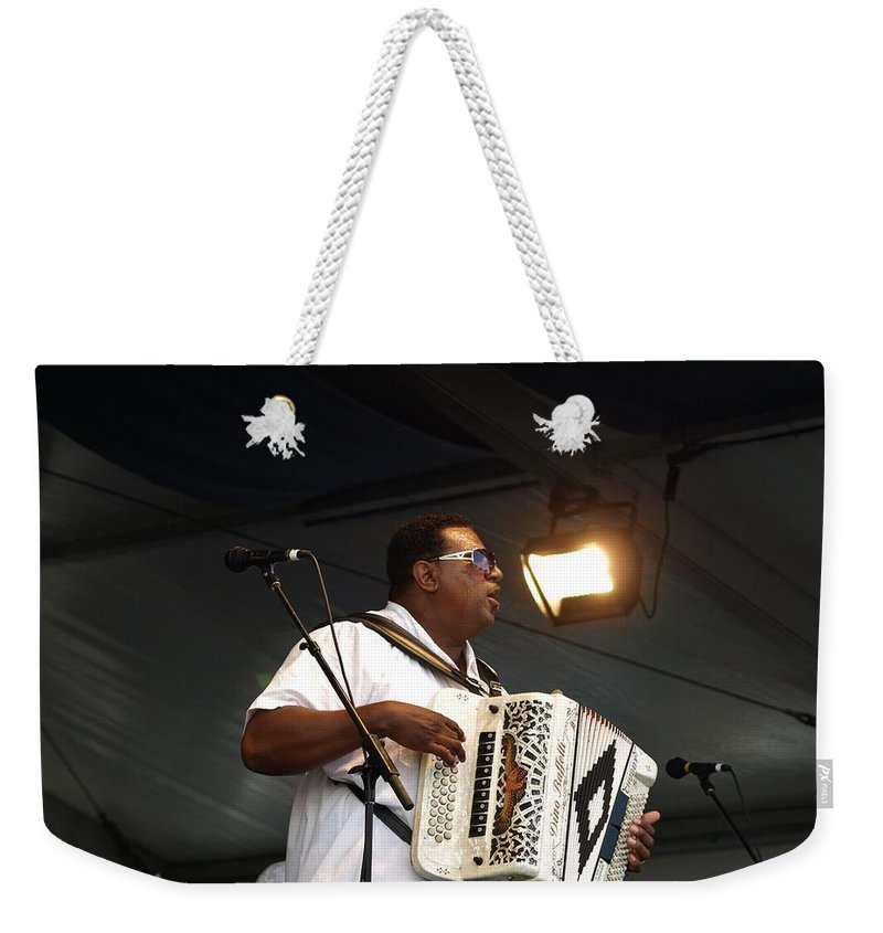 New Orleans Weekender Tote Bag featuring the photograph Chubby Carrier by William Morgan