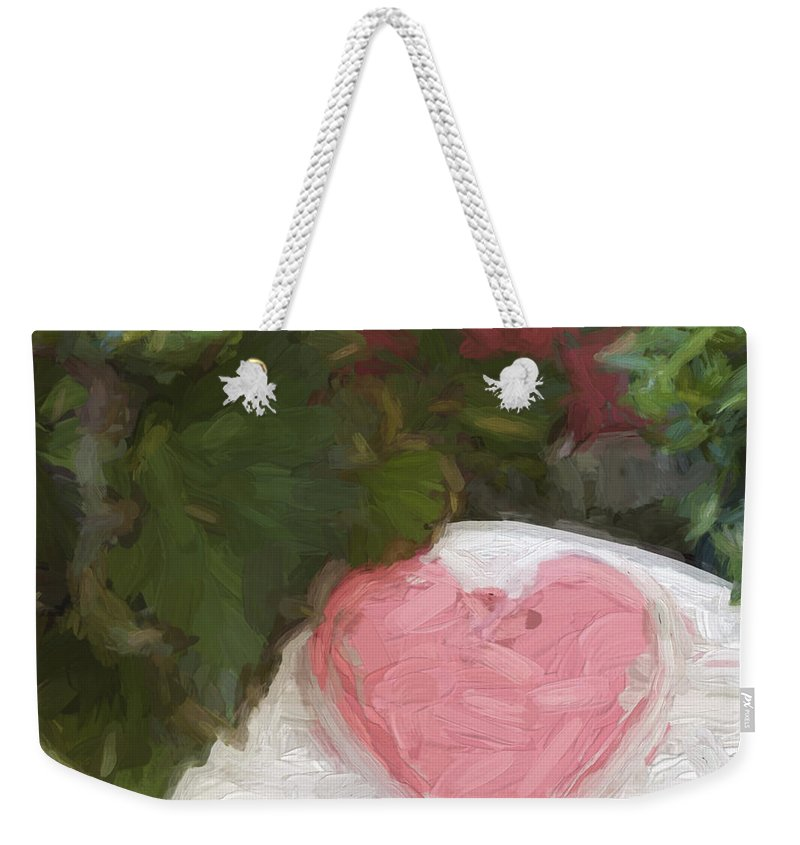 Pink Weekender Tote Bag featuring the photograph Church Camp House Detail Painterly Series 20 by Carol Leigh