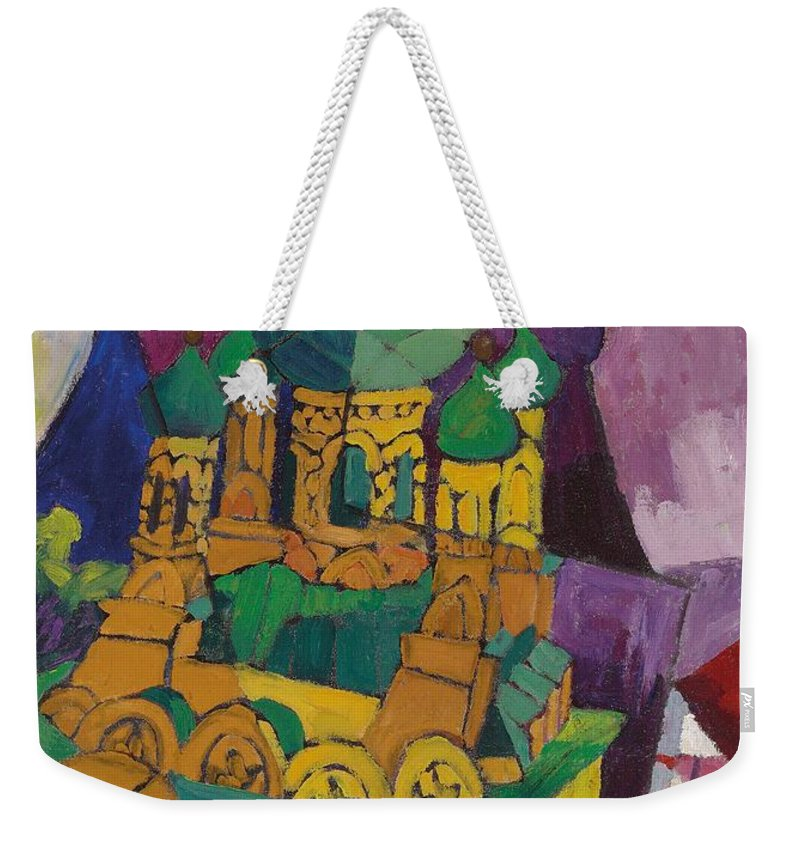 Church Weekender Tote Bag featuring the painting Church In Alupka by Aristarkh Vasilievic Lentulov