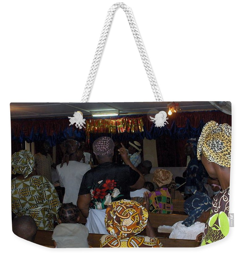 Church Weekender Tote Bag featuring the photograph Church In Nigeria by Amy Hosp