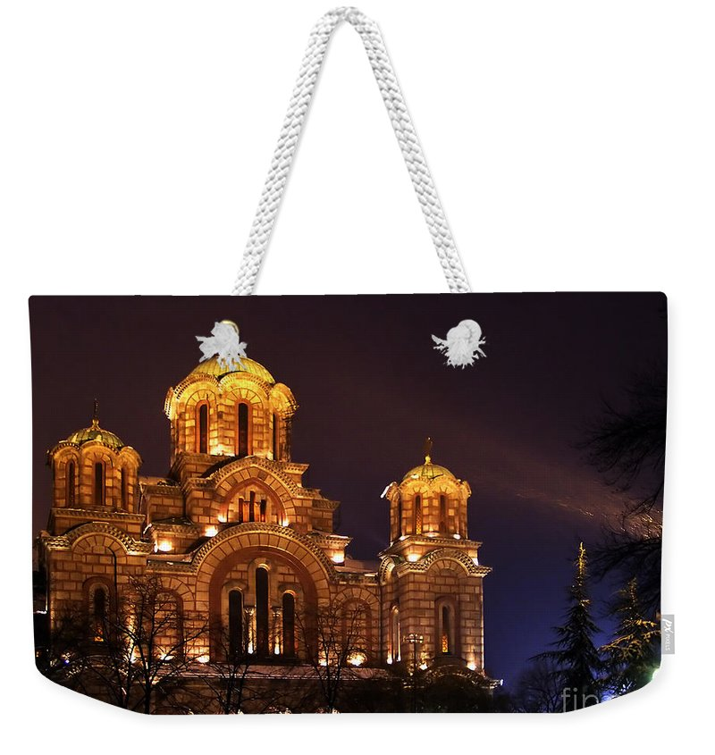 Church Weekender Tote Bag featuring the photograph Church Of Sveti Marko by Zoran Berdjan