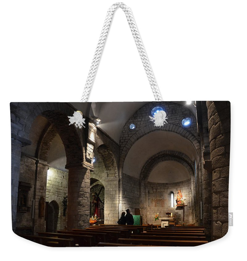Church Weekender Tote Bag featuring the photograph Church Of The Assumption Of Mary In Bossost by RicardMN Photography
