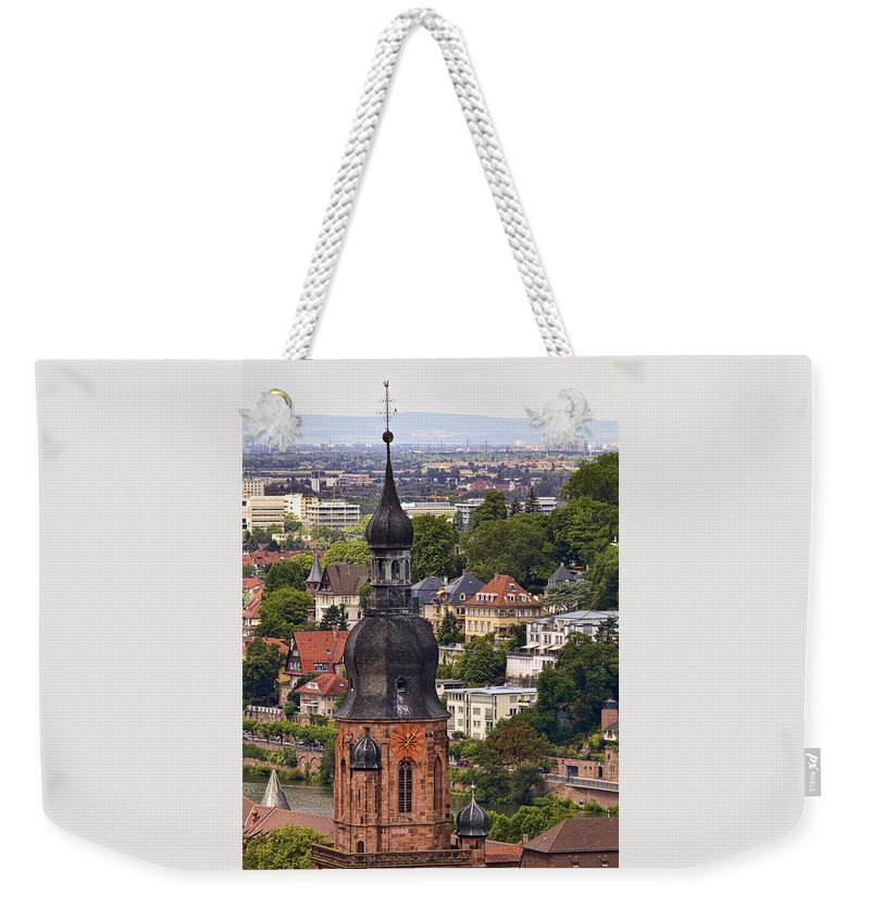 Architecture Weekender Tote Bag featuring the photograph Church Of The Holy Spirit Steeple by Marcia Colelli