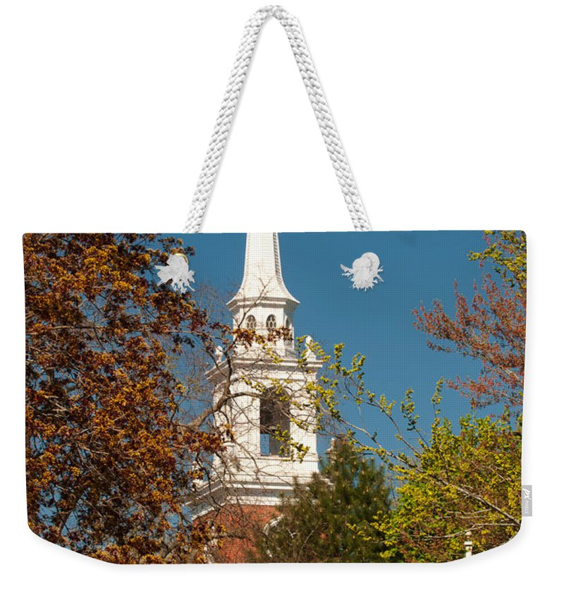church Of The Redeemer From The Lexington Battlefield Weekender Tote Bag featuring the photograph Church Of The Redeemer From The Lexington Battlefield by Paul Mangold
