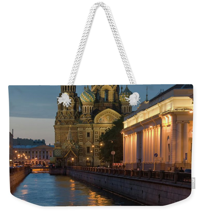 Built Structure Weekender Tote Bag featuring the photograph Church Of The Saviour On Spilled Blood by Izzet Keribar