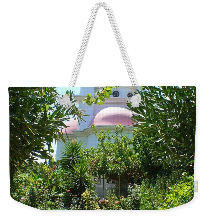 Israel Weekender Tote Bag featuring the photograph Church Of The Seven Apostles In Capernaum Israel by Katerina Naumenko