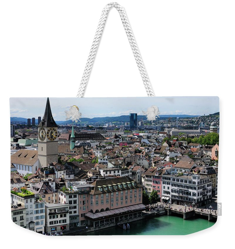 Tranquility Weekender Tote Bag featuring the photograph Church Sankt Peter by Werner Büchel