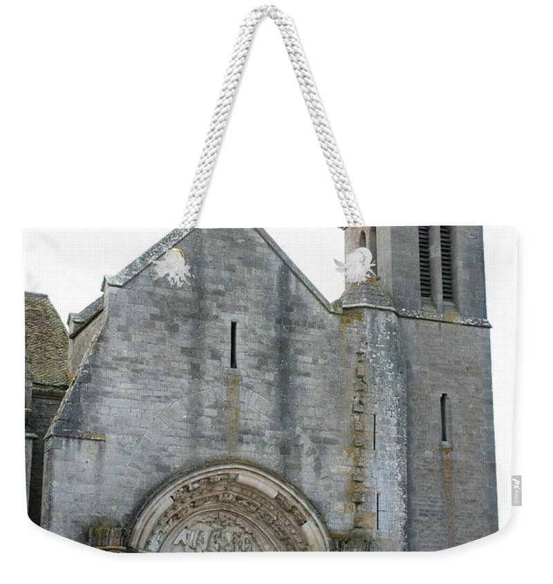 Old Church Weekender Tote Bag featuring the photograph Church St Thibault- Burgundy by Christiane Schulze Art And Photography
