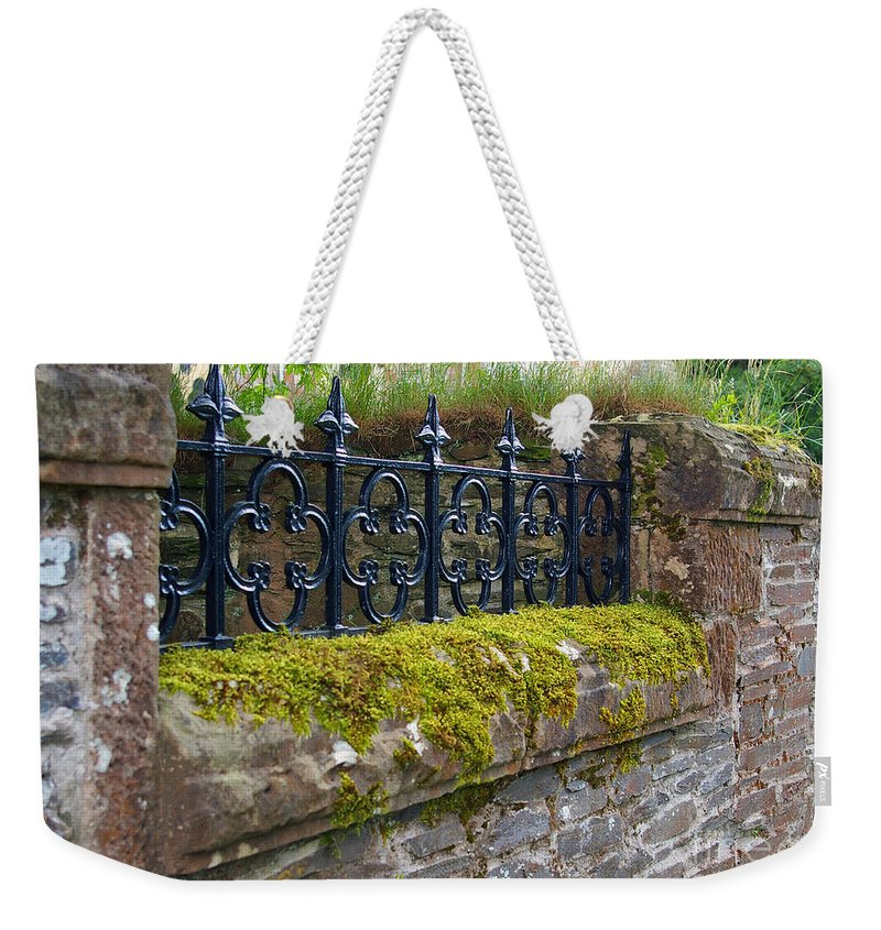 Wall Weekender Tote Bag featuring the photograph Church Wall by Nancy L Marshall