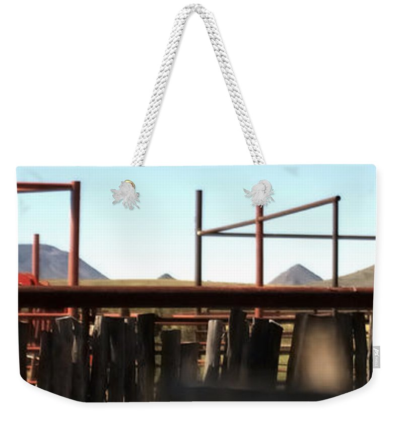Chute Weekender Tote Bag featuring the photograph Chute And Buttes 16108 by Jerry Sodorff