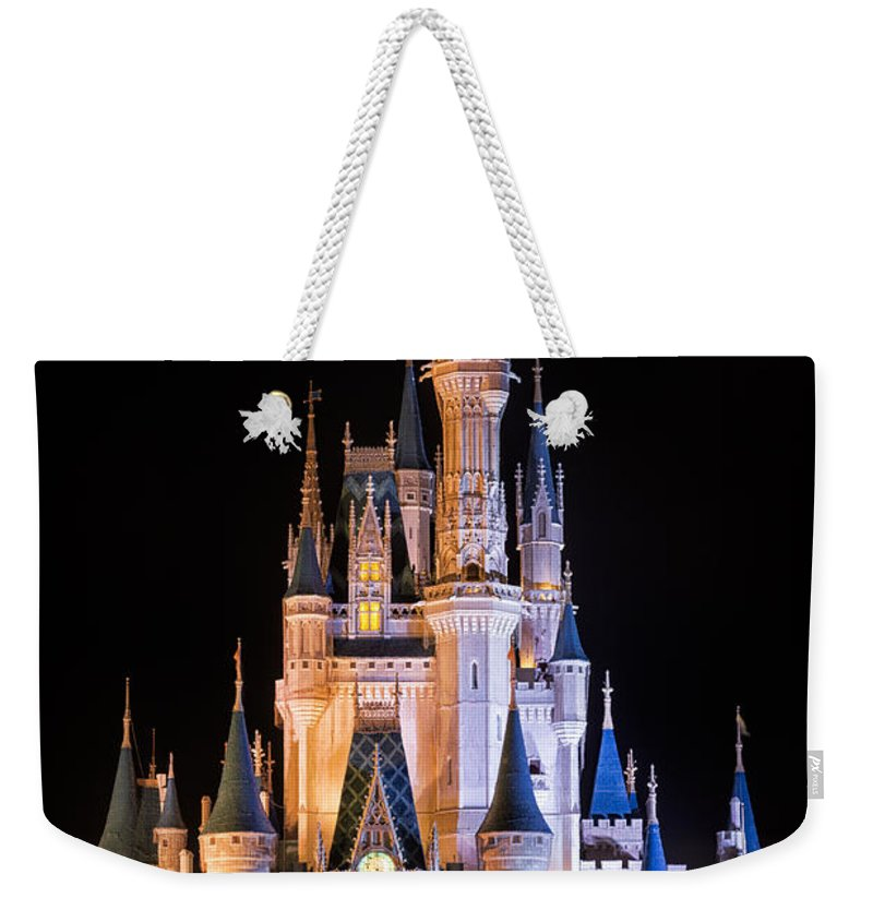 3scape Weekender Tote Bag featuring the photograph Cinderella's Castle in Magic Kingdom by Adam Romanowicz