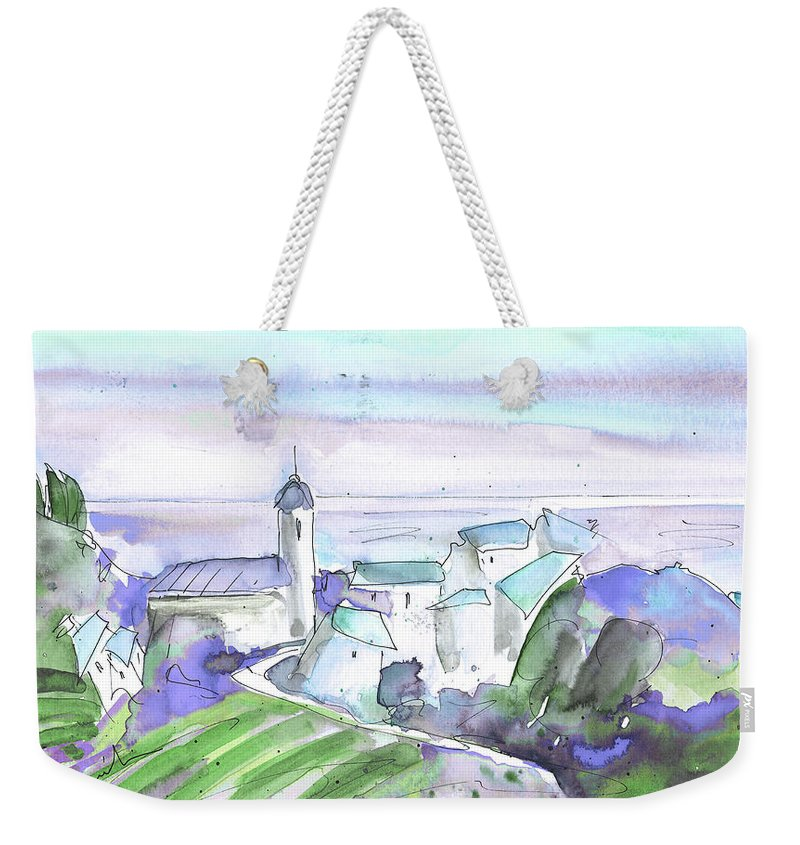 Italy Weekender Tote Bag featuring the painting Cinque Terre 04 by Miki De Goodaboom