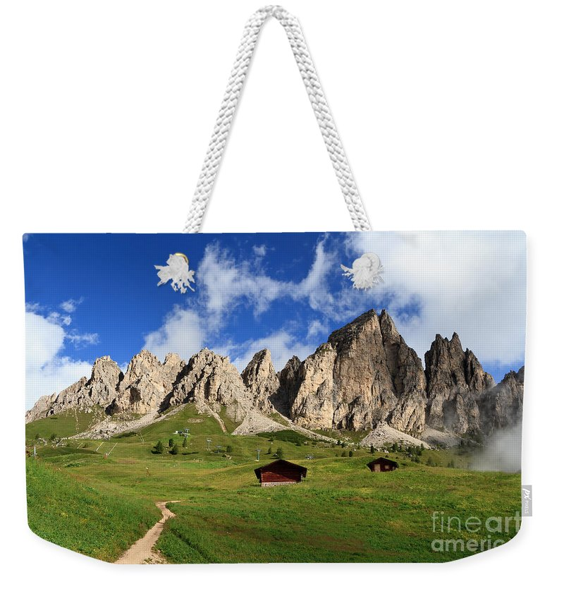 Alpine Weekender Tote Bag featuring the photograph Cir Group - Gardena Pass by Antonio Scarpi