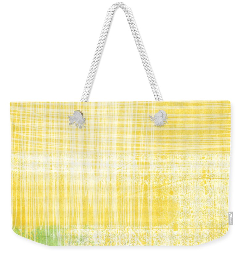 Abstract Painting Weekender Tote Bag featuring the painting Circadian by Linda Woods