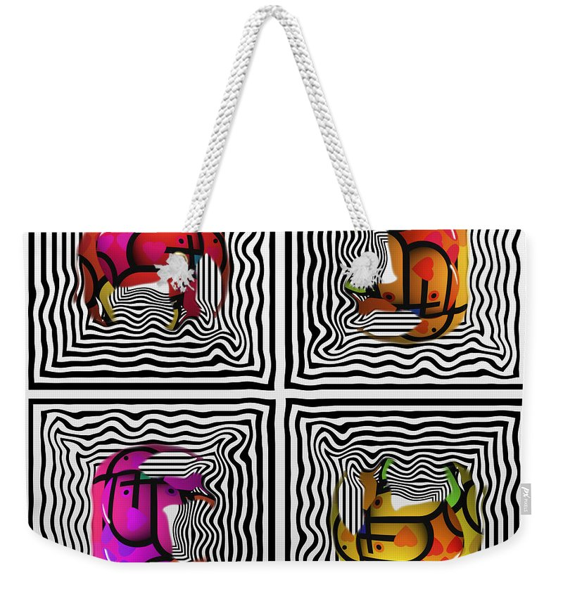Circle Weekender Tote Bag featuring the painting Circle by Charles Stuart