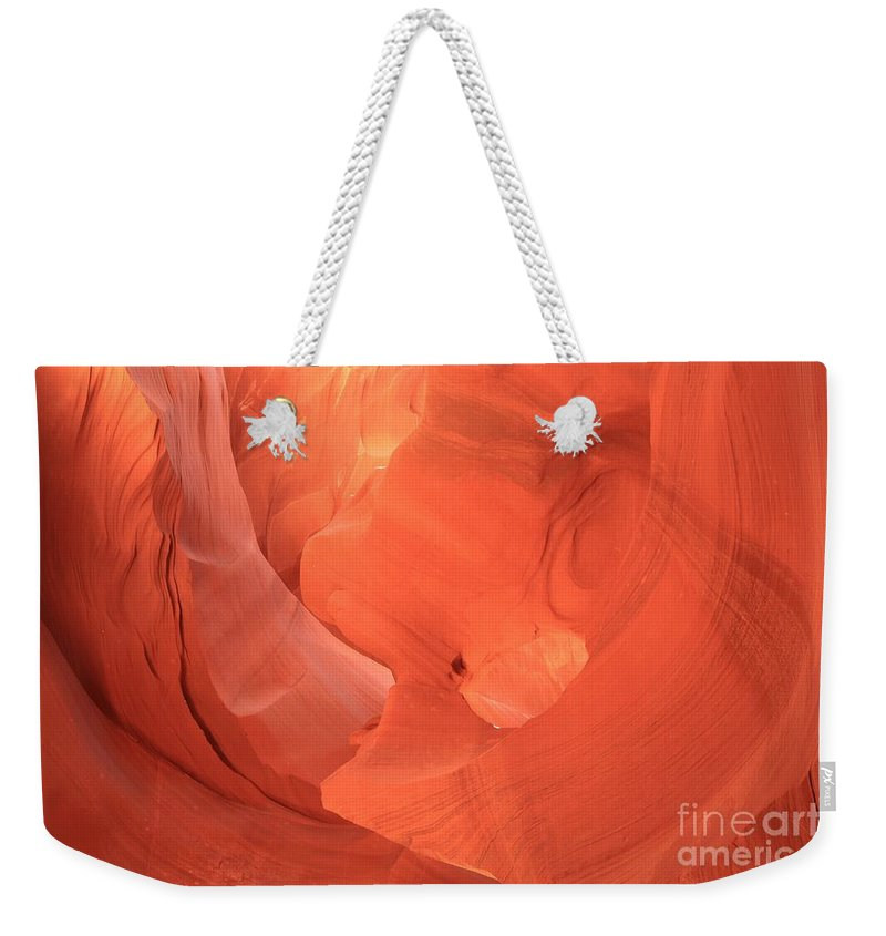 Arizona Slot Canyon Weekender Tote Bag featuring the photograph Circle In The Sandstone by Adam Jewell