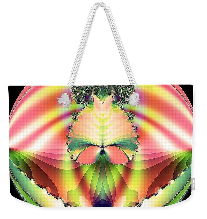 Circle Of Rainbows Weekender Tote Bag featuring the digital art Circle Of Rainbows by Maria Urso