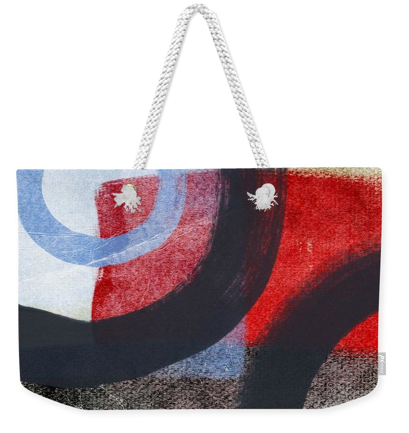 Circles Weekender Tote Bag featuring the painting Circles 1 by Linda Woods