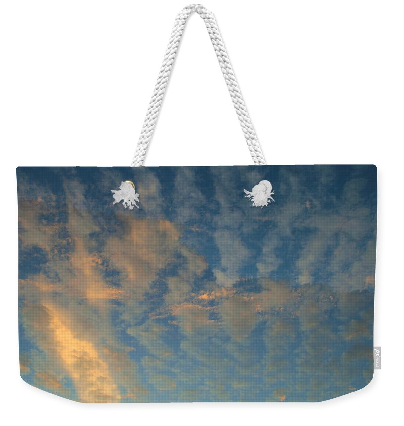 Cirrocumulus Morning Weekender Tote Bag featuring the photograph Cirrocumulus Morning by Ellen Henneke