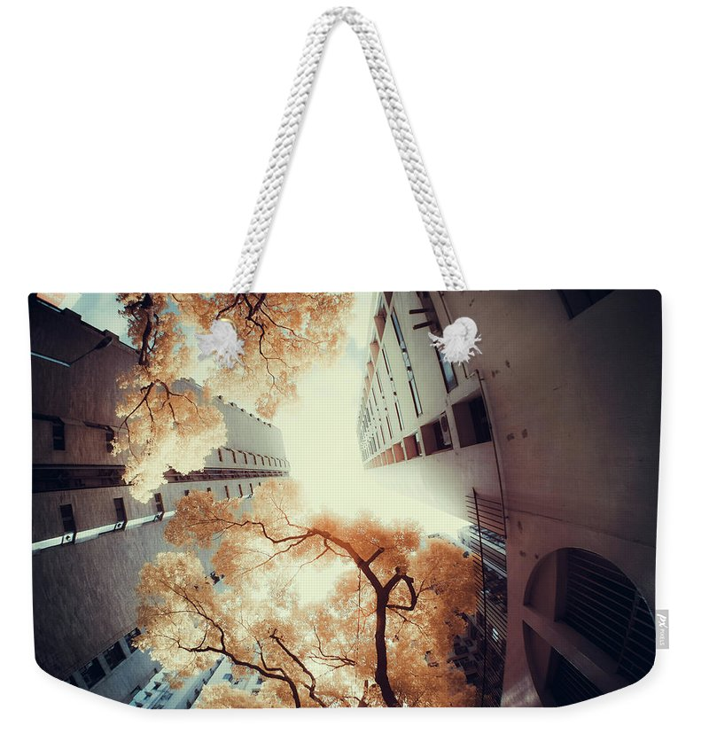 Tranquility Weekender Tote Bag featuring the photograph City In Harmony With Nature by D3sign