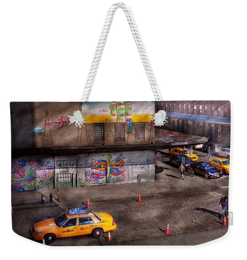 New York Weekender Tote Bag featuring the photograph City - New York - Greenwich Village - Life's Color by Mike Savad