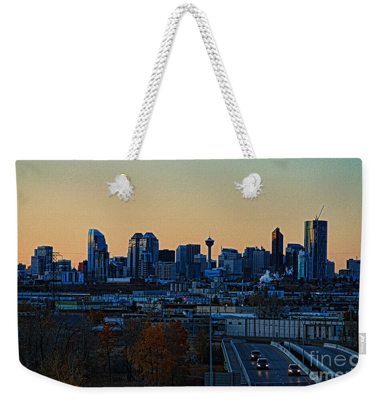 Calgary Weekender Tote Bag featuring the photograph City Of Calgary by Randy Harris