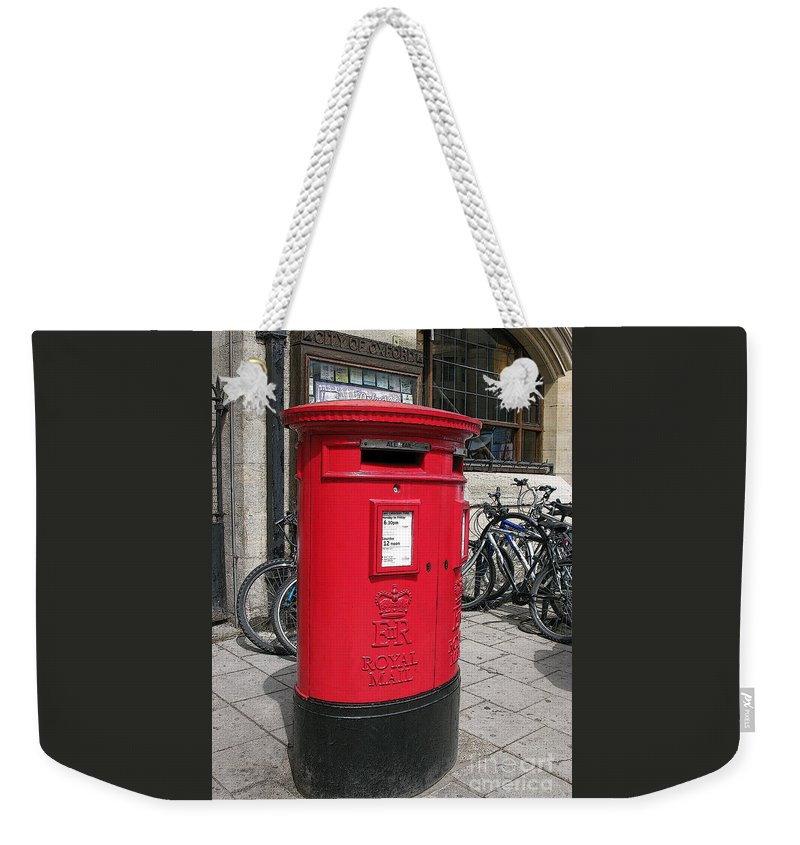 Oxford Weekender Tote Bag featuring the photograph City Of Oxford by Ann Horn