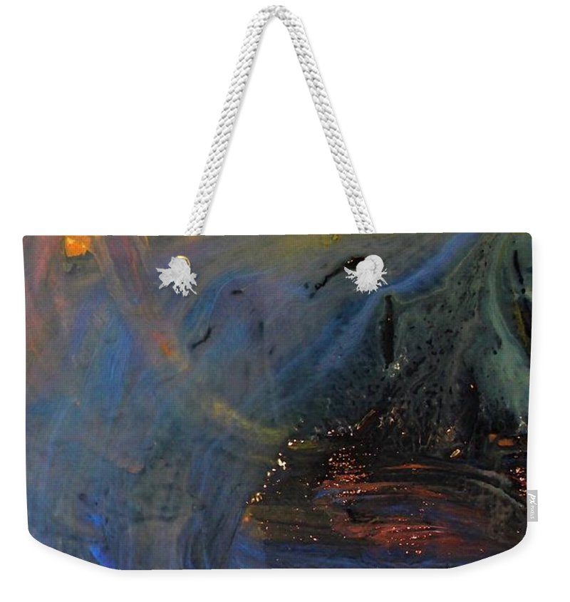 City On Mars Weekender Tote Bag featuring the mixed media City On Mars by Kume Bryant