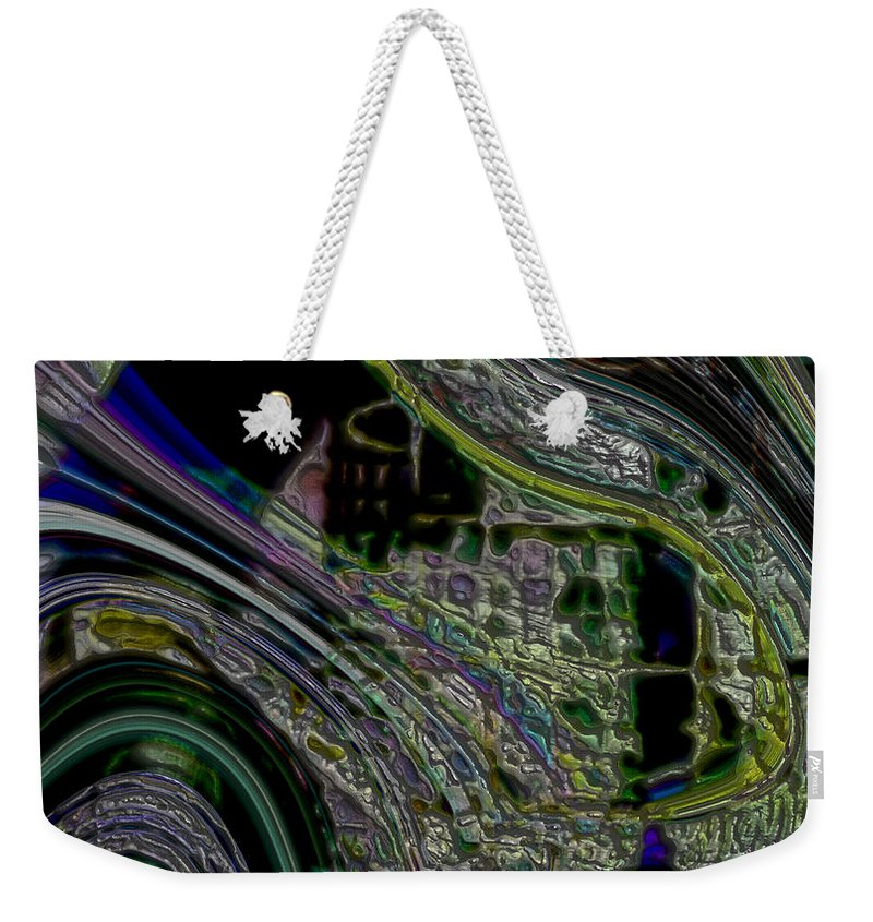 Abstract Weekender Tote Bag featuring the digital art City Slickers by Richard Thomas