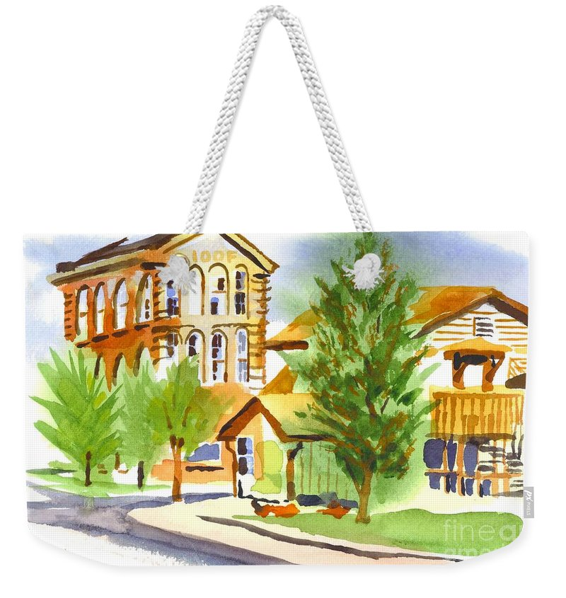 City Streets Weekender Tote Bag featuring the painting City Streets by Kip DeVore