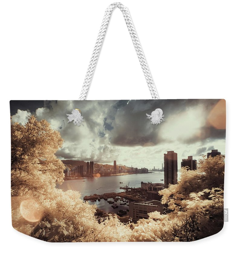 Treetop Weekender Tote Bag featuring the photograph Cityscape In Dream by D3sign