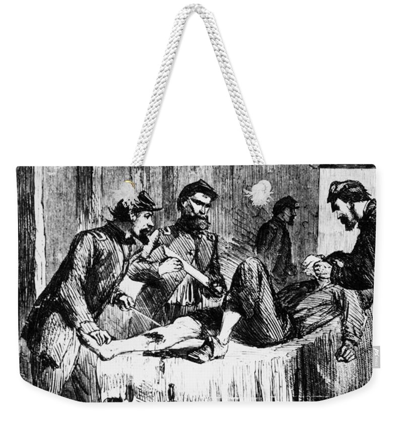 1860s Weekender Tote Bag featuring the photograph Civil War: Amputation by Granger