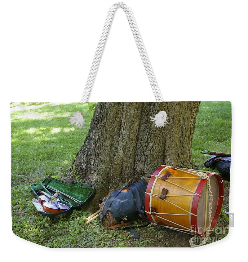 American Weekender Tote Bag featuring the photograph Civil War Music by Tannis Baldwin