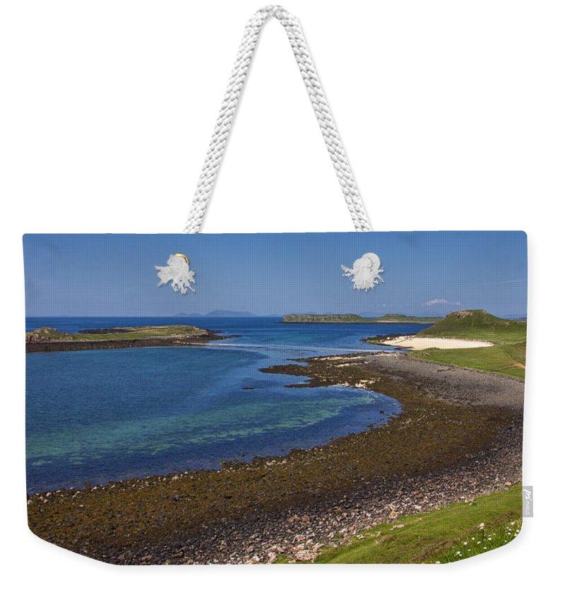 Claigan Weekender Tote Bag featuring the photograph Claigan Coral Beach by David Pringle