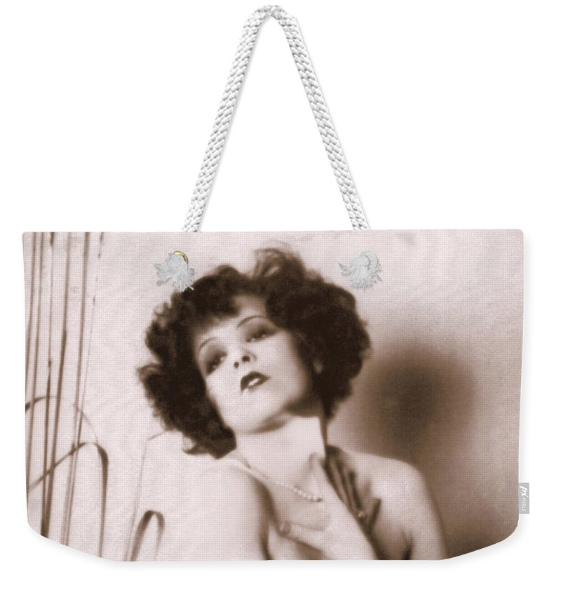 Clara Bow Weekender Tote Bag featuring the photograph Clara Bow by Glenn Aker