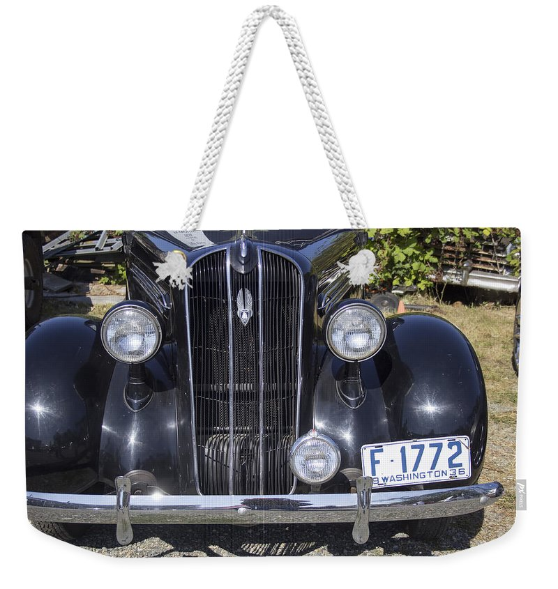 Weekender Tote Bag featuring the photograph Classic '36 by Cathy Anderson