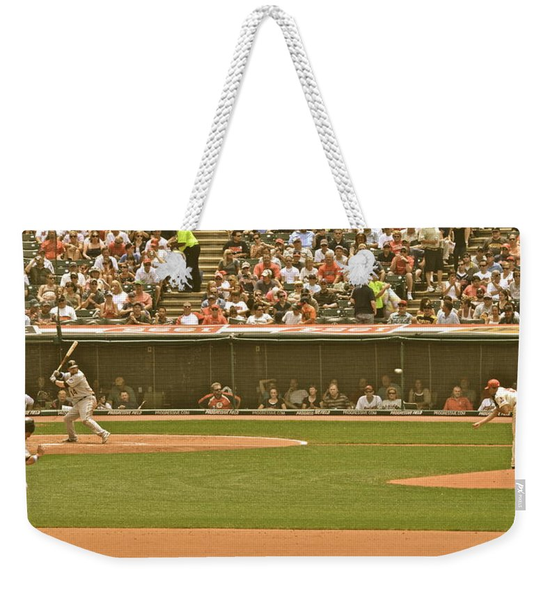 Baseball Weekender Tote Bag featuring the photograph Classic Baseball by Frozen in Time Fine Art Photography