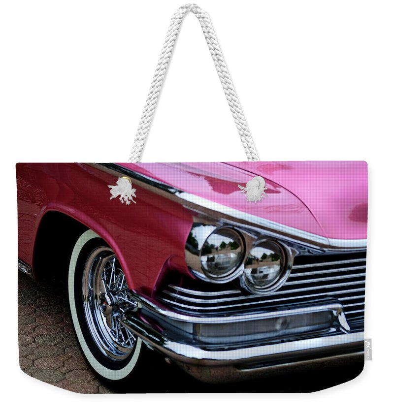 Vehicle Weekender Tote Bag featuring the photograph Classic Car Collection by Deborah Klubertanz
