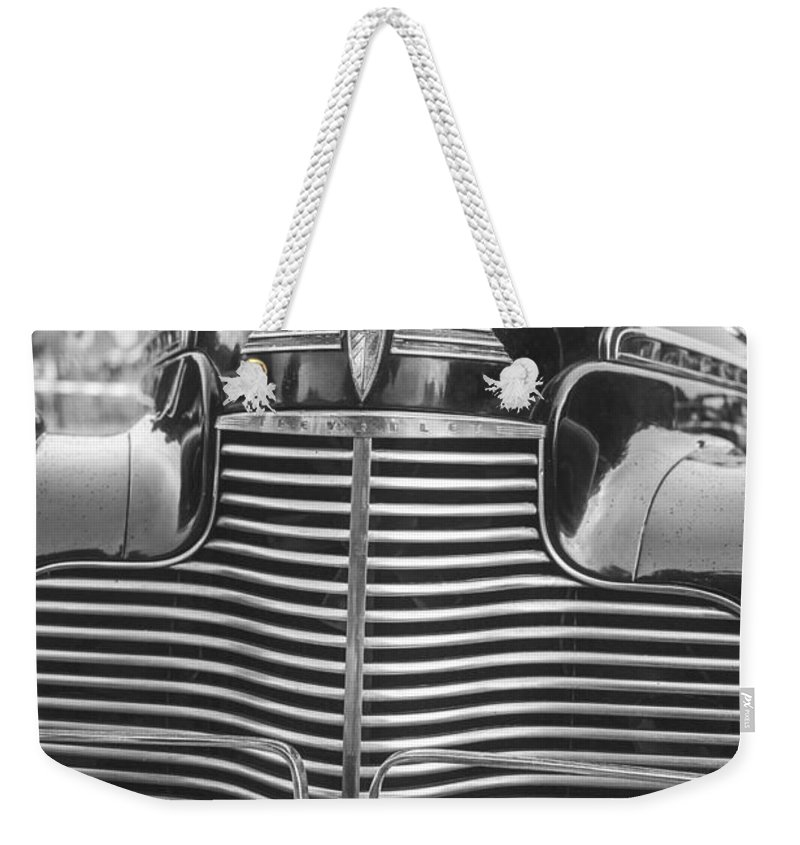 Chevy Weekender Tote Bag featuring the photograph Classic Chevrolet by Edward Fielding