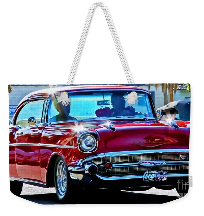 Cars Weekender Tote Bag featuring the photograph Classic Chevrolet by Tap On Photo
