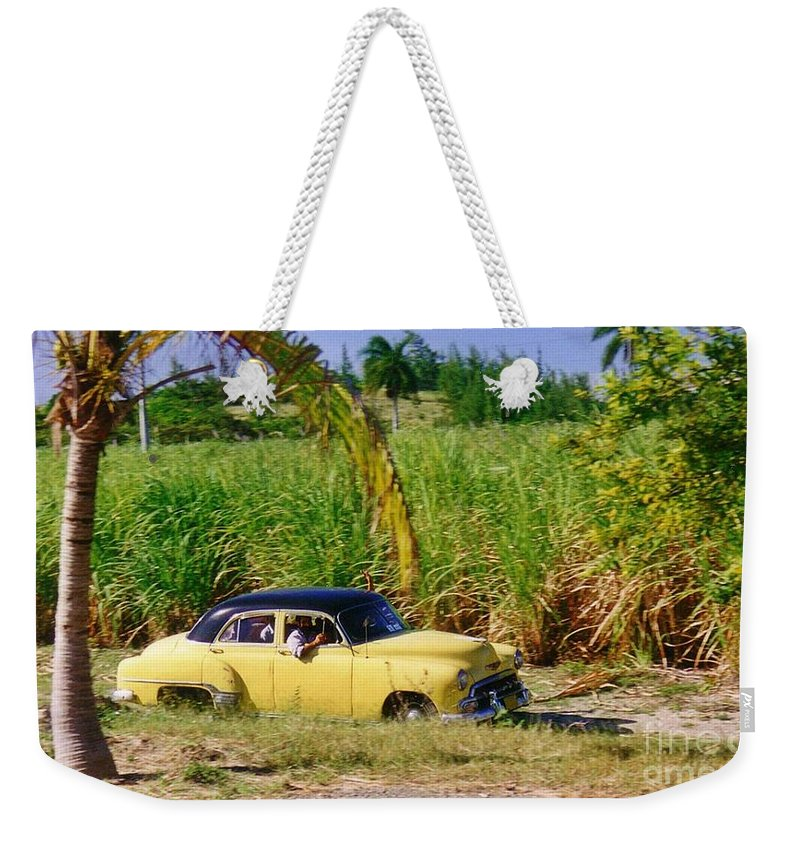 Classic Cuba Weekender Tote Bag featuring the photograph Classic Cuba by Halifax Photographer John Malone