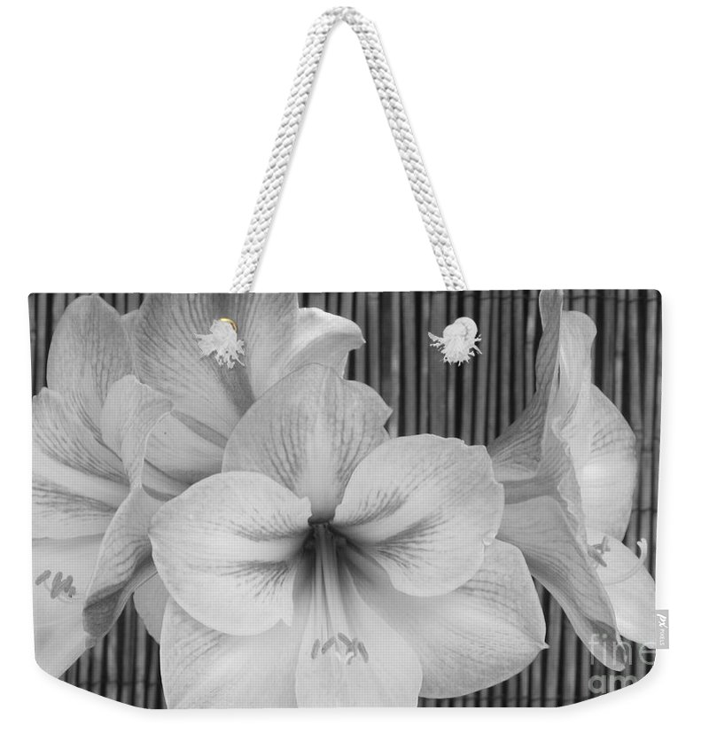 Patzer Weekender Tote Bag featuring the photograph Classic Lilies by Greg Patzer