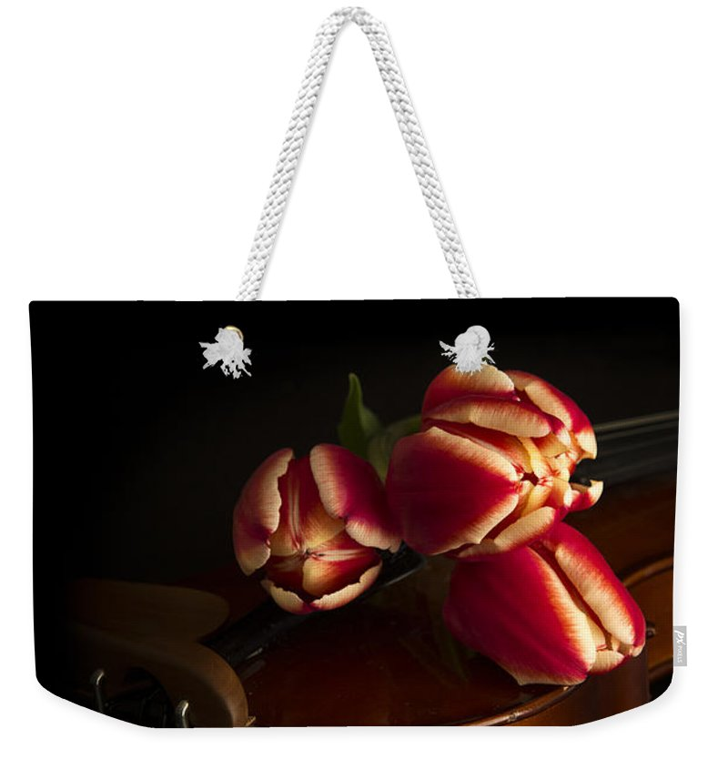 Floral Weekender Tote Bag featuring the photograph Classical Romance by Edward Fielding