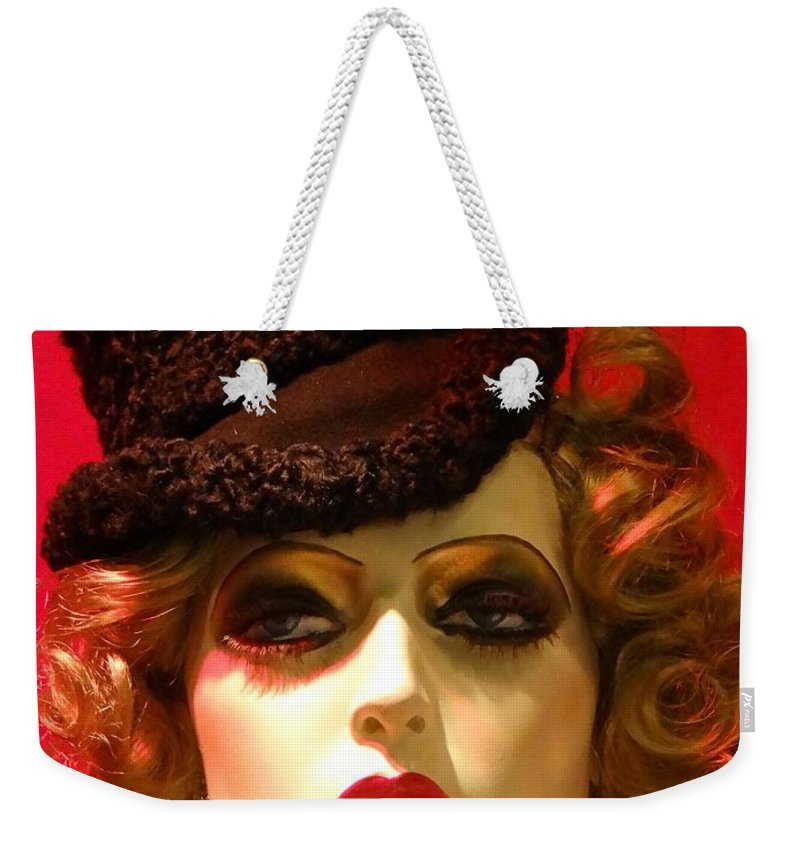 Mannequins Weekender Tote Bag featuring the photograph Classy Dame by Ed Weidman