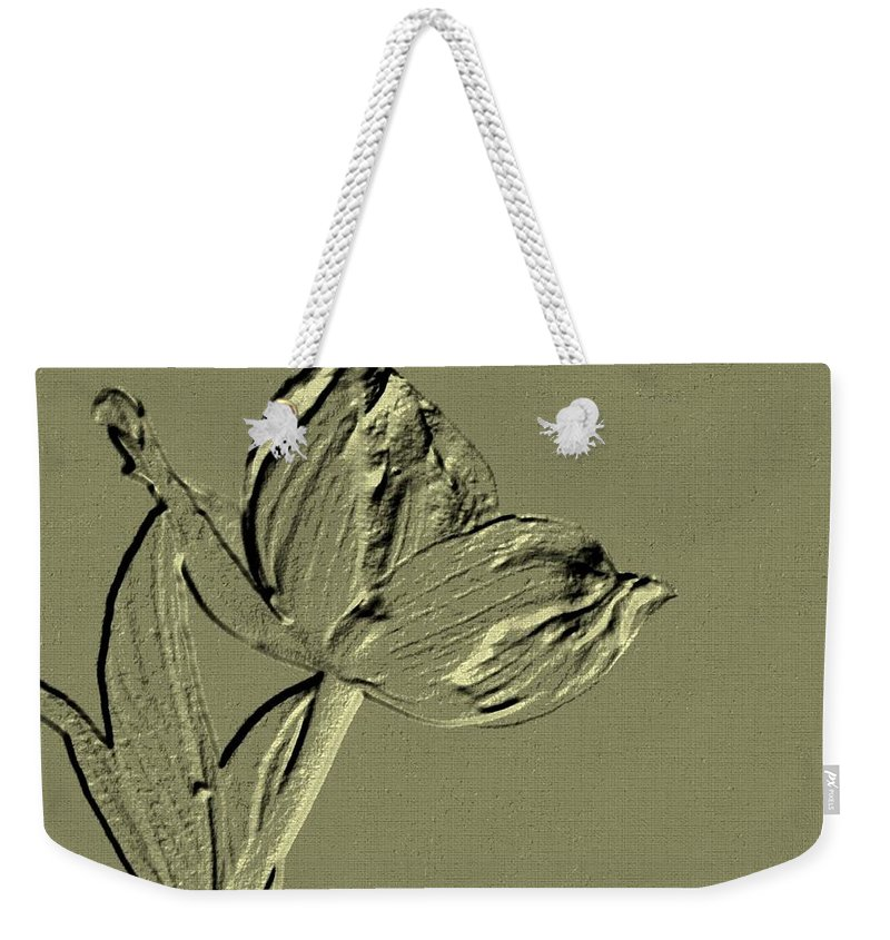 Classy Weekender Tote Bag featuring the digital art Classy by Maria Urso